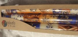 Handbeschilderde kaarsen Nobunto Oker
