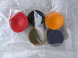 Kleurstof voor kaarsen 5 stuks