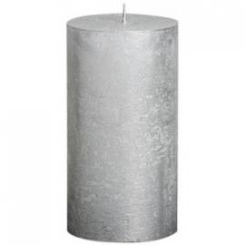 Zilveren stompkaars 6,8 x 13cm
