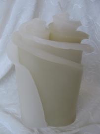 Huwelijkskaars Bloemenduo 25 cm