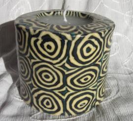 Spiralen donker groen Swazi Candle