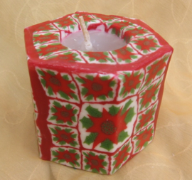 Kerstroos Swazi Candle 6 kant
