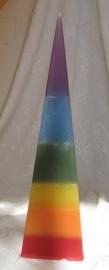 Regenboog kaars Pyramide
