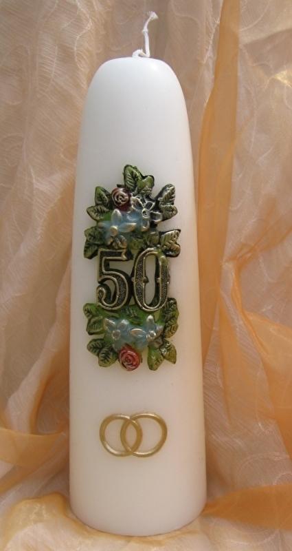 Jubileumkaars 50 jaar huwelijk ringen