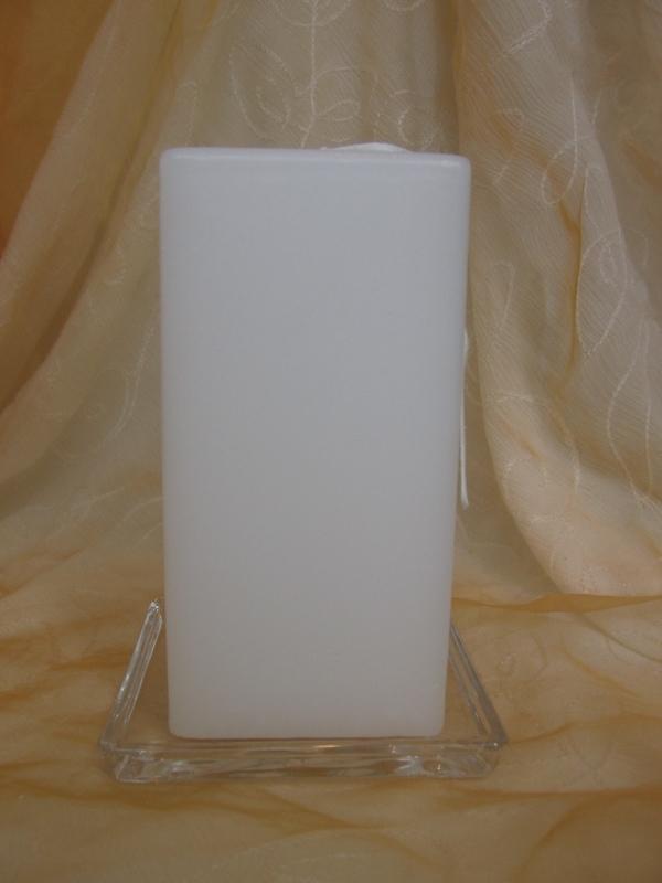 Vierkante kaars 7 x 14 cm wit