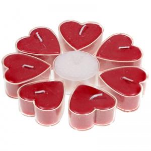 Hartvormige geurkaarsjes roos