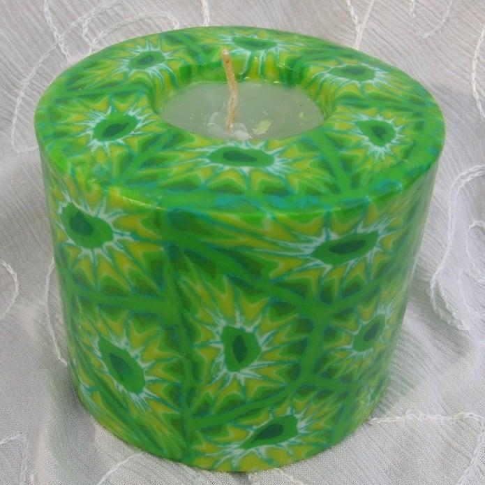 Mandala groen Swazi Candle