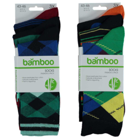 Art. 21472002 Man Mode sokken Bamboo 3-pak