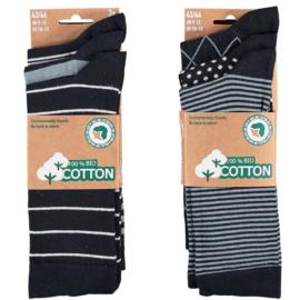 Art. 58061001 Mode sokken Bio Cotton  Multi Marine 6-pack
