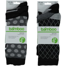 Art. 21472001 Man Mode sokken Bamboo 3-pak