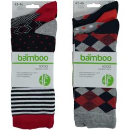Art. 21472003 Man Mode sokken Bamboo 3-pak