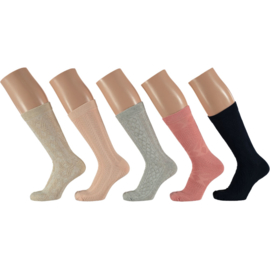 Art. 30422002 Ladies Structure Socks 5 pack