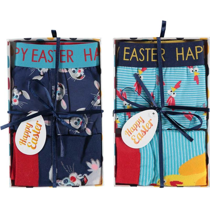 Art. 000120999001 Giftbox sokken & Boxershort Pasen 2-pack