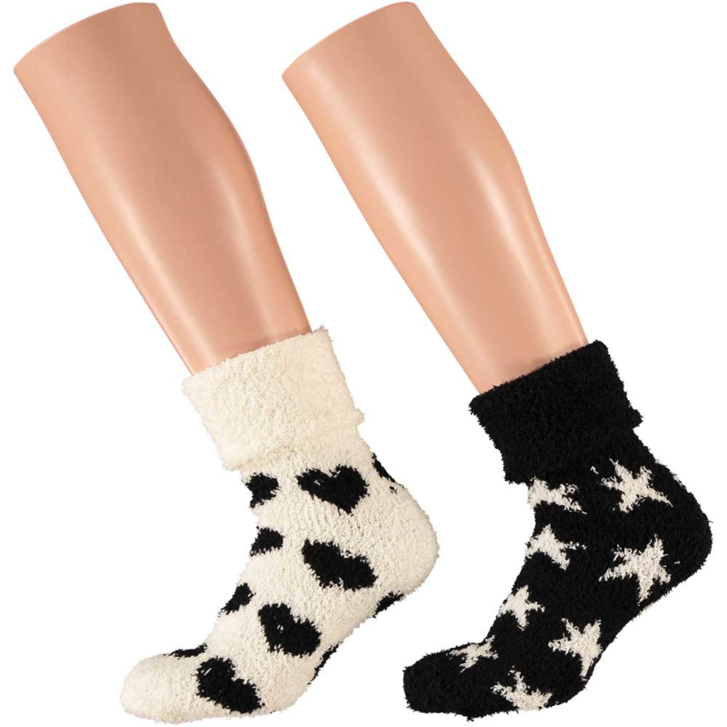 Art. 31033039 Ladies Softy Bedsocks 2-pack