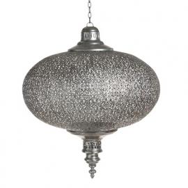 Lamp orientaals zilver large
