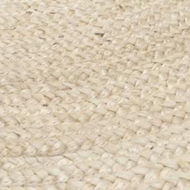 vloerkleed gevlochten jute off-white 250 cm