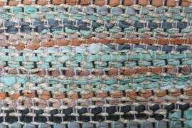 Vloerkleed 80x140 leer & jute vintage