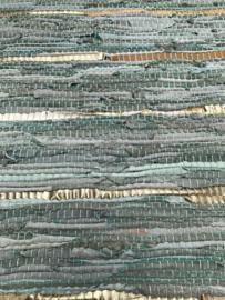 Vloerkleed 80x140 leer licht groen (jade) metallic
