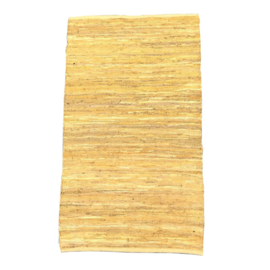 vloerkleed leer okergeel 80x140