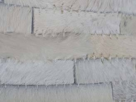 Vloerkleed wit leer 160x230
