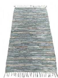 Vloerkleed leer jadegroen 80x140