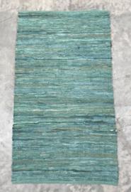 vloerkleed gerecycled leer met katoenen draad 80x140