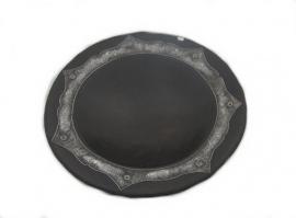 Zwarte schaal met zilver uit Bali