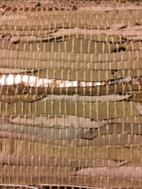 Vloerkleed leer taupe/naturel 160 x 230