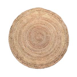 vloerkleed gevlochten jute naturel 120cm