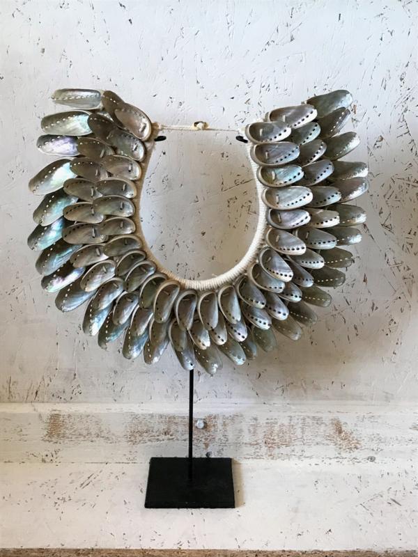 Schelpenketting Bali mossel schelpen zilver small