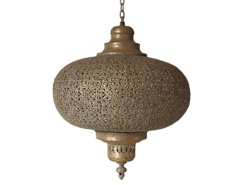 Lamp oriental bruin/goud small
