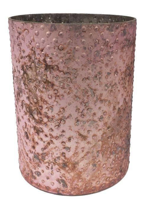 Windlicht rustique roze-brons large