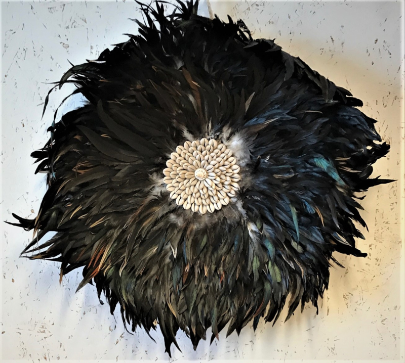 dromenvanger veren & schelpen Bali zwart large