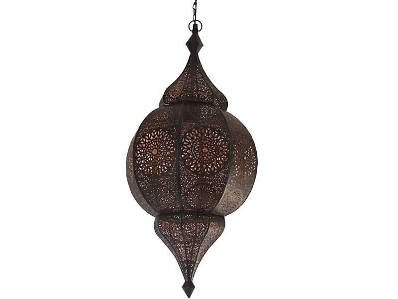 Lamp orientaals zwart/koper large