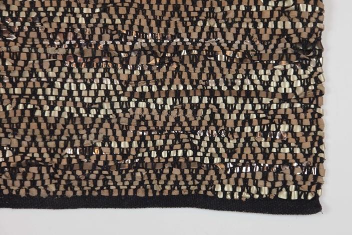 vloerkleed leer zwart/koper Zenza 140x200