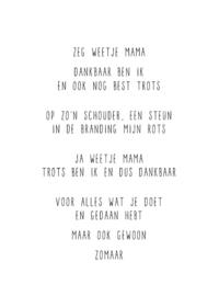 Zeg weet je mama