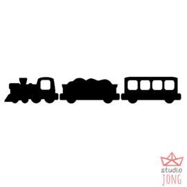 Uitbreidingsset trein zwart/grijs