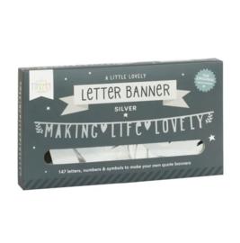 Letter banner zilver