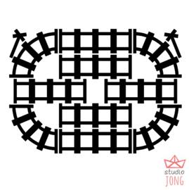 Sticky rails zwart/grijs