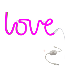 Neon lamp Love - roze