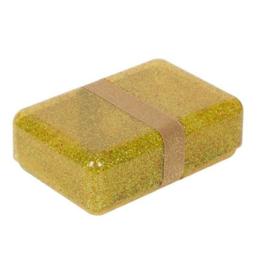 Lunchbox glitter goud