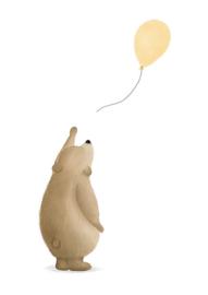 Beertje met ballon zalm