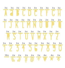 Letter banner goud
