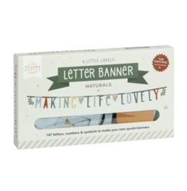 Letter banner natuur