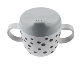 Beker happy dots - grijs
