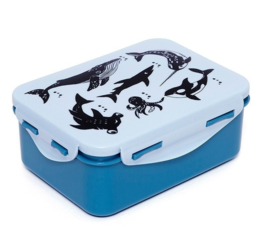 Lunchbox blauw sea animals