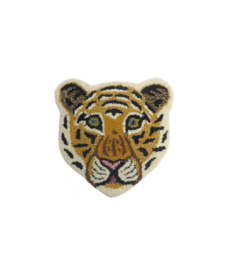 Cloudy tiger head rug