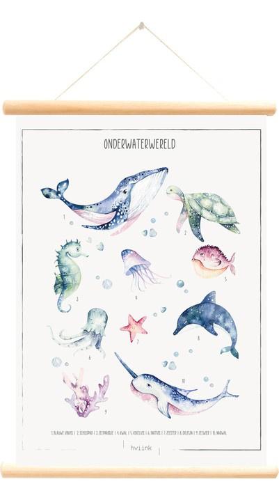 Schoolplaat Onderwaterwereld