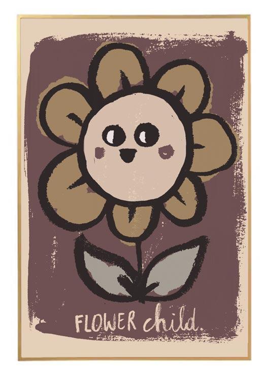 Poster flower child