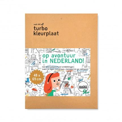 Turbo kleurplaat Nederland